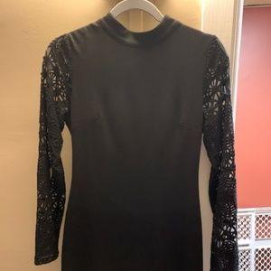 Medium Lulu's black lace sleeved dress